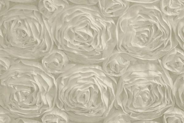 Ivory Rosette Linen