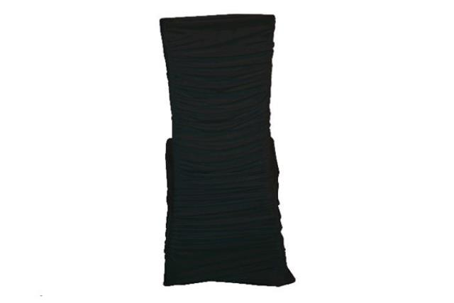 Black Swag Square Chair Cover