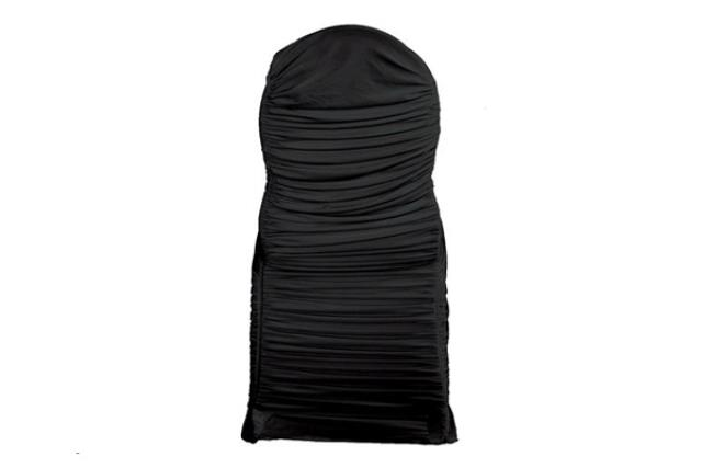 Black Swag Banquet Chair Cover