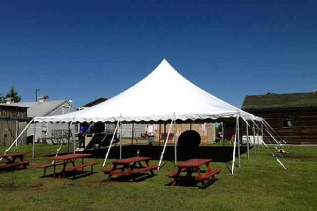 40' X 140' Century Mate White Pole Tent
