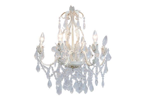 Antique White Ornate Chandelier