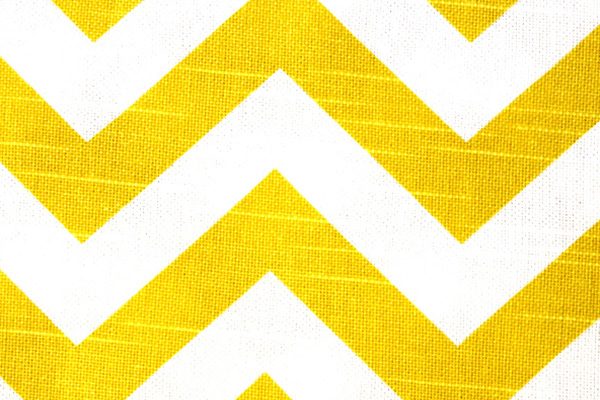 Lemon Chevron Linen